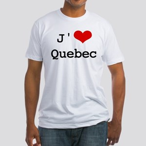J' [heart] Quebec Fitted T-Shirt